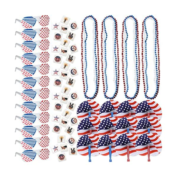 f4f7e13313bf 108 4th of July Patriotic American Flag Party Favors Bulk Includes ...