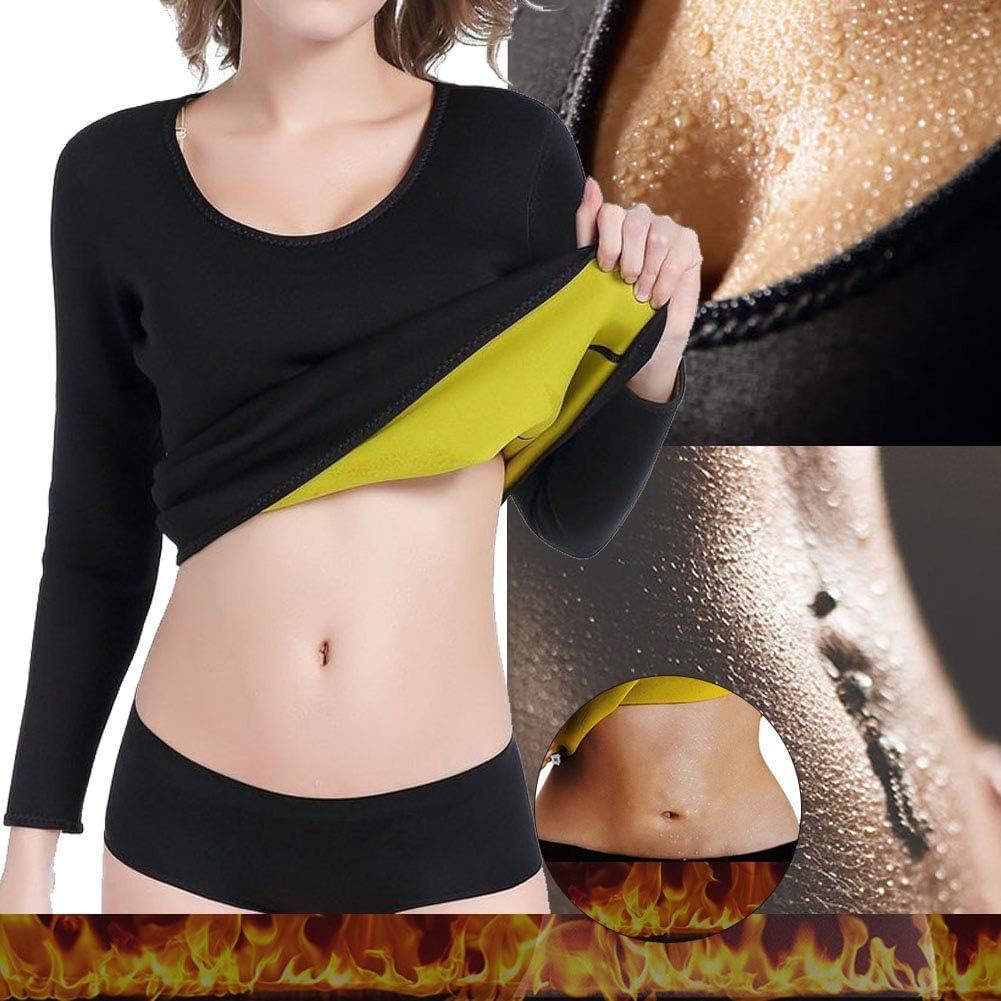 Homieco Maglia da Allenamento per Donna Body Shaper Trainer Maglia Manica Lunga Calda Tuta per Allenamento Perdita di Peso Perdita di Peso Shapewear Intimo