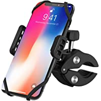 VicTsing Bike Phone Mount, Cell Phone Holder for Bicycle Motorcycle Universal Silicone Bike Handlebar Mount for iPhone X/8 Plus/8/7 Plus/7, Samsung Galaxy S8 S7 S6, Huawei and GPS Devices