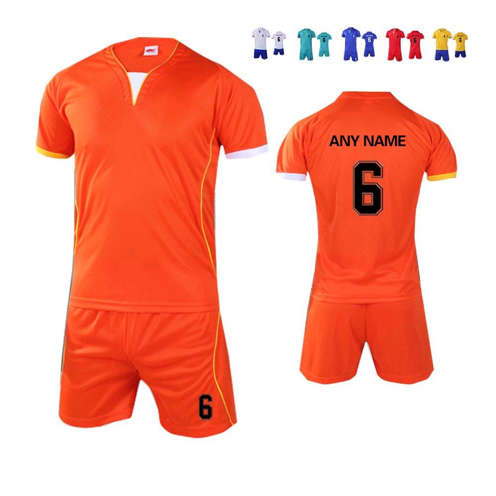 Senston Niño/Juventud/hombre Personalizar Camiseta de fútbol y pantalones cortos Personalizado (nombre & Número) Uniforme Ropa de deporte Equipo de futbol ...