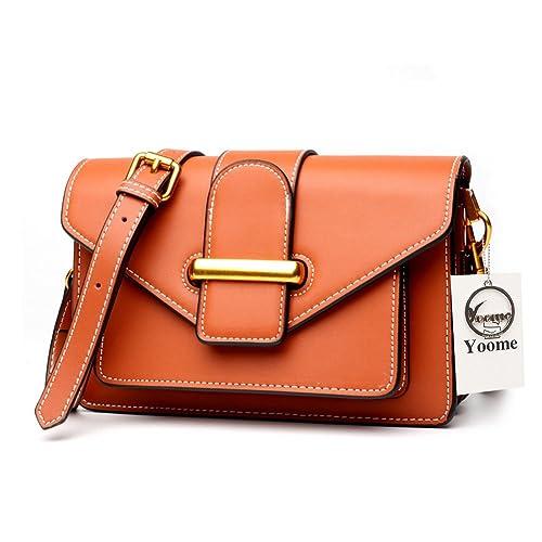 721fd8425fb3 Yoome Ladies Designer Purses Cross Body Handbags Cowhide Leather Trendy Bags  for Women Shoulder Bags -