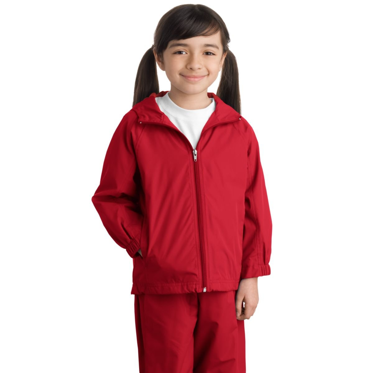 Sport Tek Youth Hooded Raglan Jacket