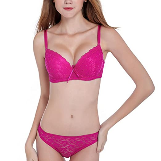 Daxin Womens Underwear Lingerie Lace Embroidery Push Up Bra Sets Panties B  C Cup 4b896cb73