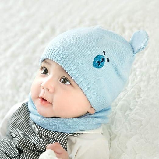 DORRISO Bambini Cappello Tre Pezzi Cappelli Sciarpe Guanti Autunno Invernale Primavera Caldo Beanie Cappelli Berretto Bambino Infantili del Cappello per 1-10 Anni