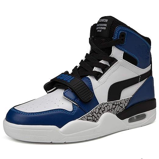YSZDM Zapatillas de Baloncesto para Hombre, Amortiguador de Aire ...