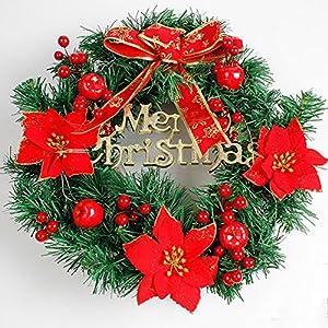 Christmas Best Gift!!!Kacowpper Christmas Wreath Door Wall Ornament Garland Decoration New Year Decor