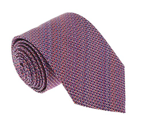 Missoni U4313 Pink/Red Basketweave 100% Silk Tie for mens