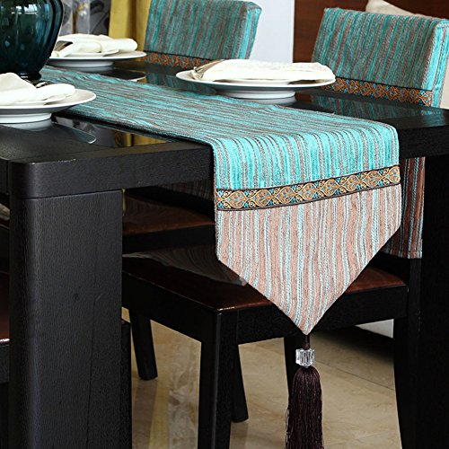 European Style,Solid Color, Table Runner / Stripe Table Cloth/Decorative Coffee Table Flag/Tea Table Runner-A 32x160cm(13x63inch)