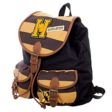 0de6c45bfc Image Unavailable. Image not available for. Color  Harry Potter Hufflepuff  Varsity Knapsack Backpack ...