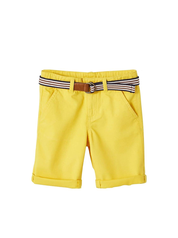 cintur/ón a Rayas Amarillo Oscuro Liso 4A VERTBAUDET Bermudas para ni/ño