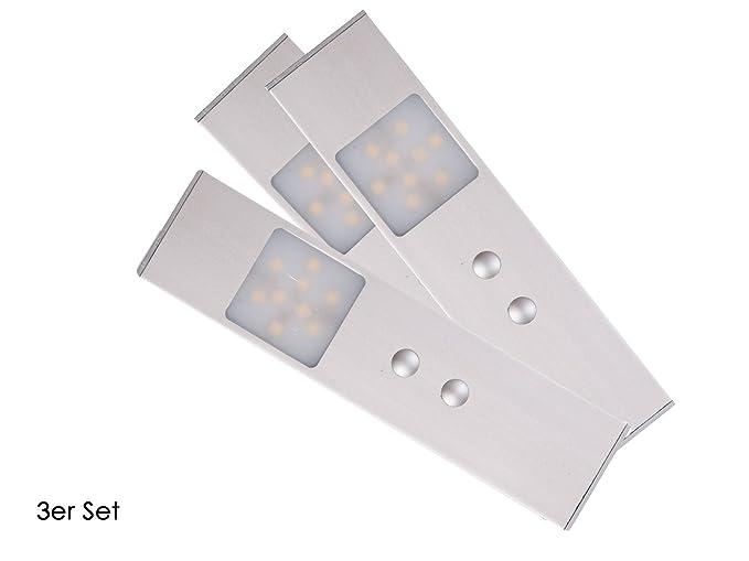Set: 3 LED de muebles empotrables con sensor de movimiento (Sensor de obstáculos)