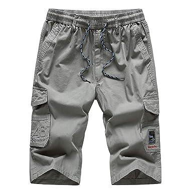 Daylin Pantalones de Verano Casuales para Hombre, Cintura elástica ...