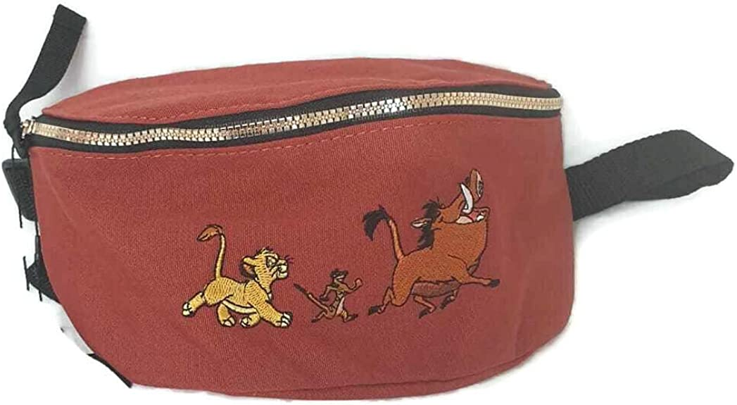 Disney Lion King Hip Fannie Pack in Red /& Blue and Keychain Coin Pouch Purse for children