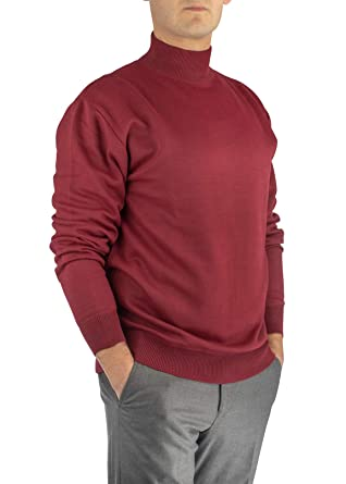 844cd0e88654bb Alberto Cardinali Men's Mock Neck Sweater at Amazon Men's Clothing ...