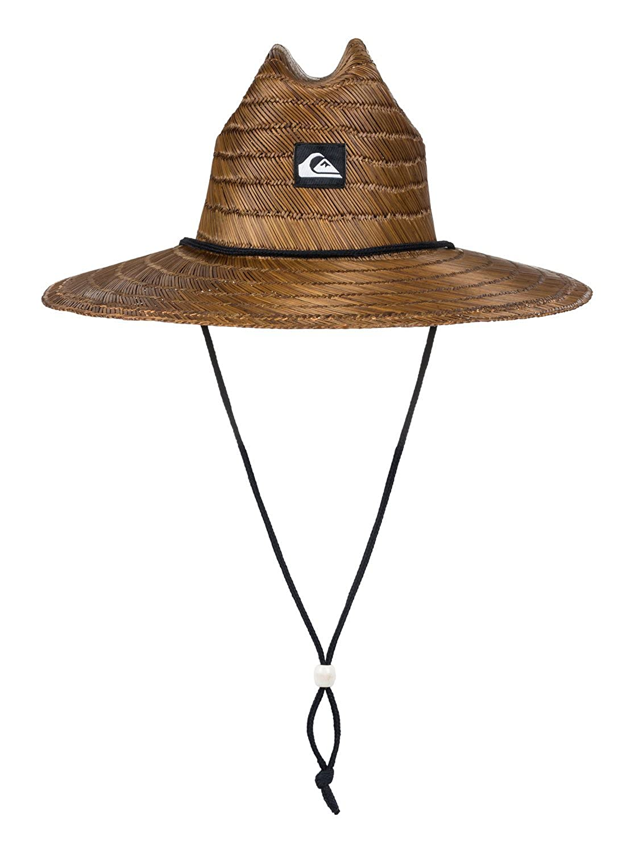Dunkelbraun Quiksilver Herren Pierside Straw Hat Sunhat X-Large