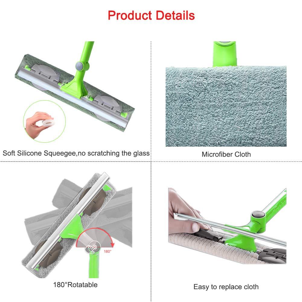 Amazon.com: IKU - Kit de limpieza de ventanas, con cabezal ...