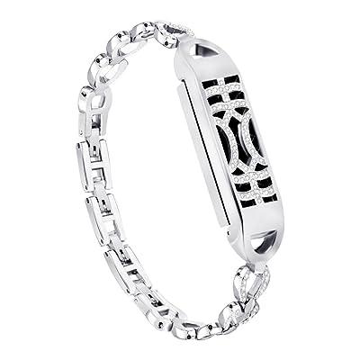 Amasells pour Fitbit Flex 2bandes, 14cm–17cm Petite taille réglable en métal magnétique Adsorption commutateur Motif Bracelet Sangle de bandes de rechange pour Fitbit F
