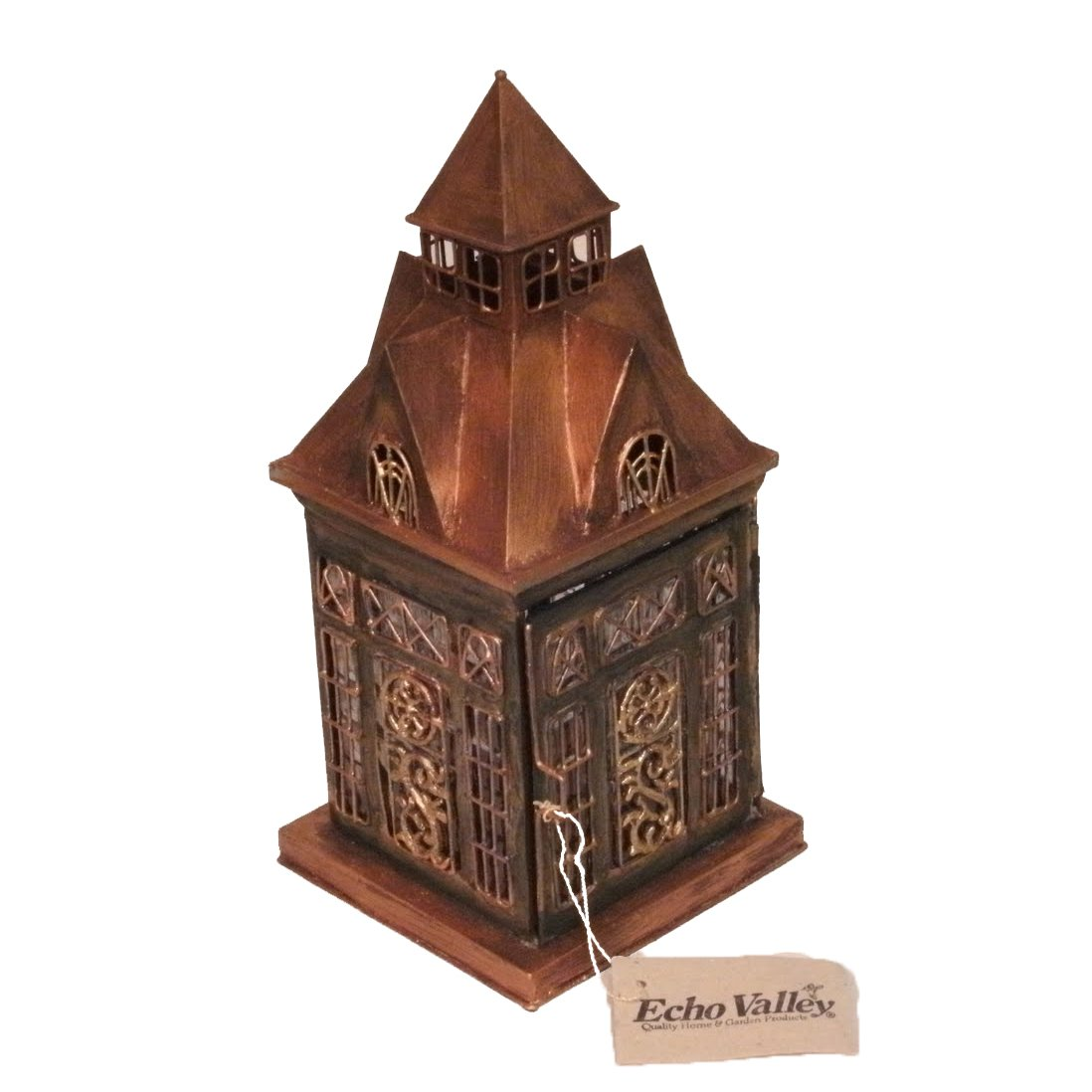 English Ellington Lantern Tea Light Candle Holder - ChristmasTablescapeDecor.com