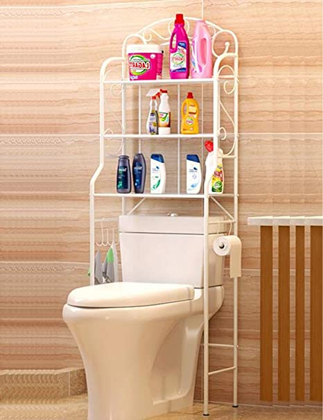 Ljf Estantes para baño WC Estante para Inodoro Aseo para baño ...