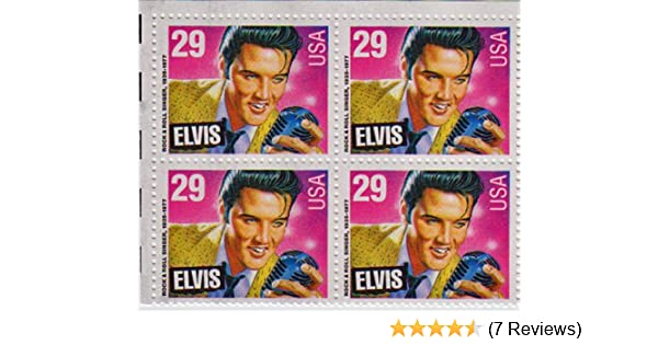 Amazon 1993 ELVIS PRESLEY 2721 Block Of 4 X 29 Cent US Postage Stamps By USPS Toys Games