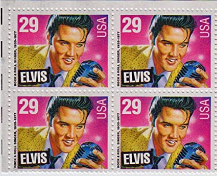 1993 ELVIS PRESLEY 2721 Block Of 4 X 29 Cent US Postage Stamps By USPS