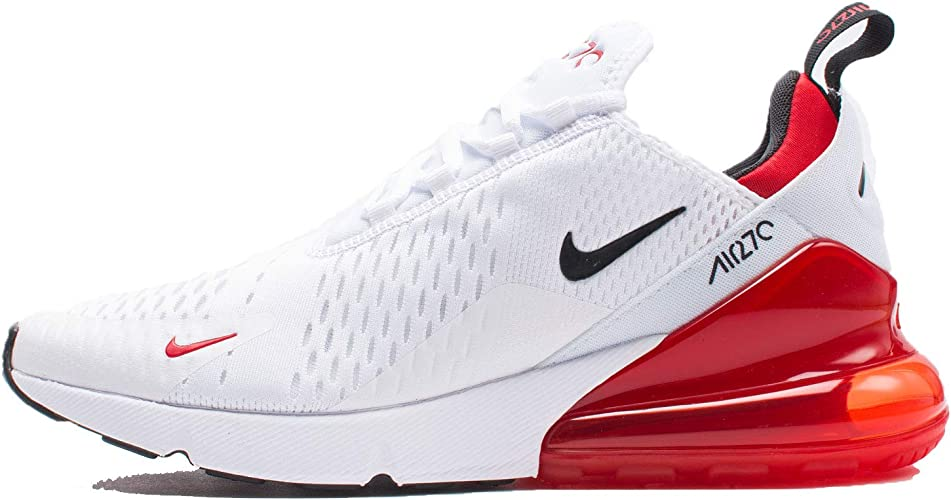 Amazon.com | Nike Men's Air Max 270 White/Red BV2523-100 ...