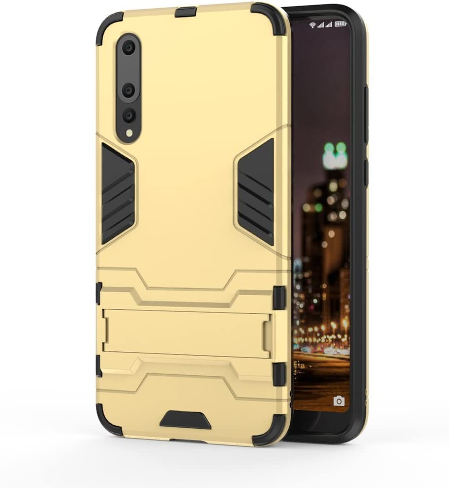 TPU Shock-Absorption WindCase Huawei P20 Pro Case Dual Layer PC Hybrid Heavy Duty Armor Defender Protective Kickstand Case Cover for Huawei P20 Pro Black