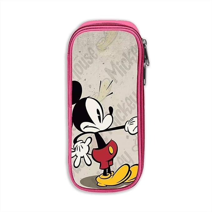 Estuche de lápices de alta capacidad con estampado de Mickey Mouse Bolígrafos Bolso de bolsa Bolsa de cosméticos: Amazon.es: Oficina y papelería