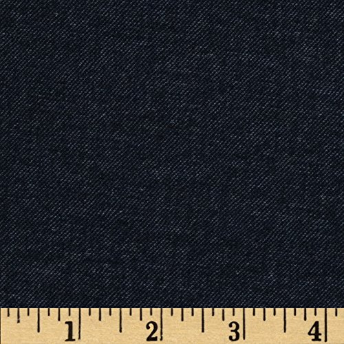 Telio Bailey Stretch Double Knit Heather Navy Fabric By The Yard