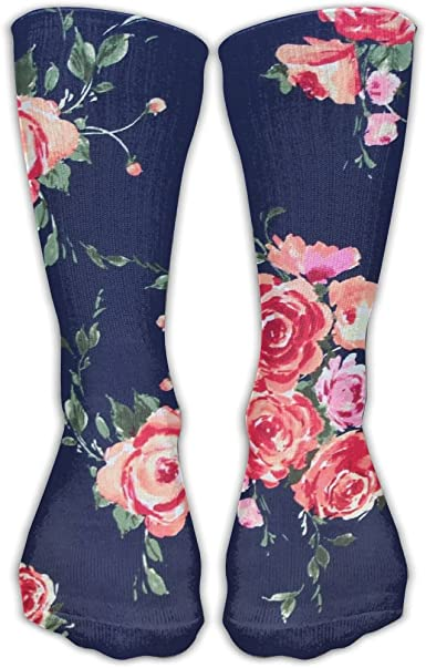Flowers Leopard Print Crazy Socks Soft Breathable Casual Socks For Sports Athletic Running
