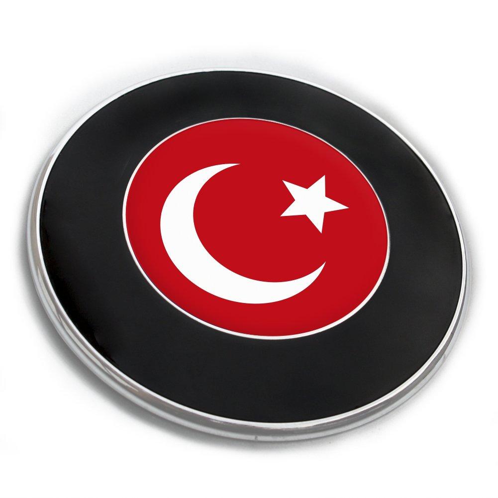 Flaggenaufkleber Emblemaufkleber mit Flagge T/ÜRKEI Flaggen Embleme