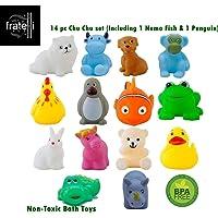 FRATELLI Chu Chu Bath Non-Toxic Toddler Toy 14 PC Squeeze Doll Set