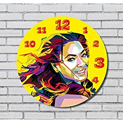 BEYONCE - 11.8 - HANDMADE ART WALL CLOCK - UNIQUE DESIGN - BE SPECIAL - THE BEST GIFT made by plastic
