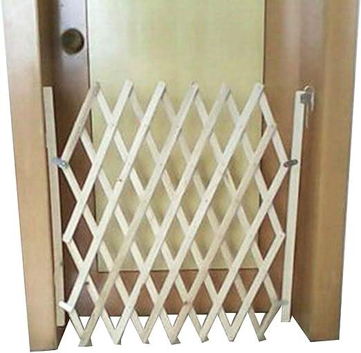 Puerta para Perro, Puerta de Escalera Plegable de Madera para Interiores, Protectores de Barrera de Puerta, Puerta de Seguridad para Perros pequeños, medianos y Grandes: Amazon.es: Productos para mascotas