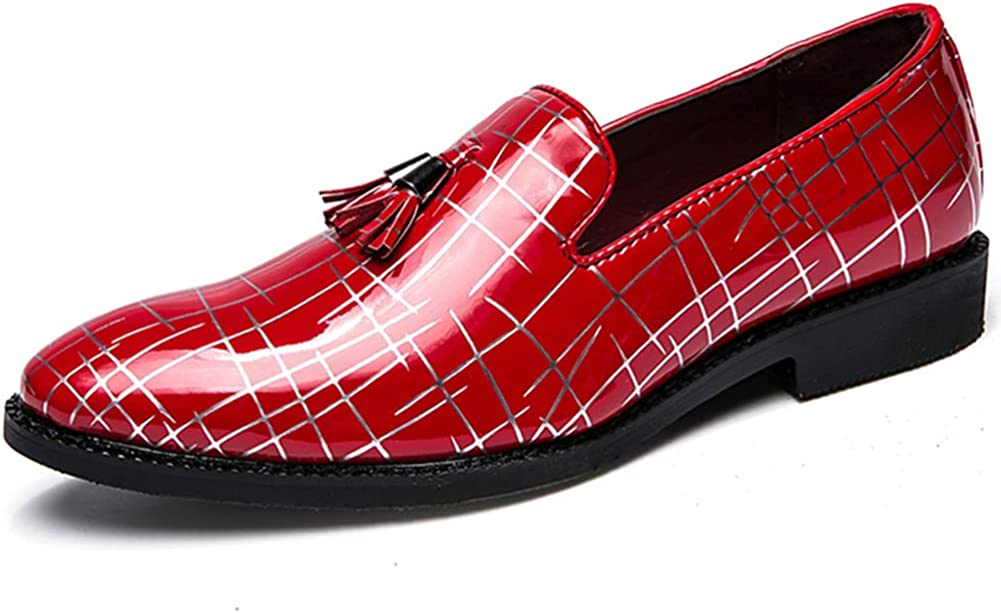 Leo Mens Moc-Toe Handmade Leather Slip-on Elastic Band Driving Loafers Size 7-12.5