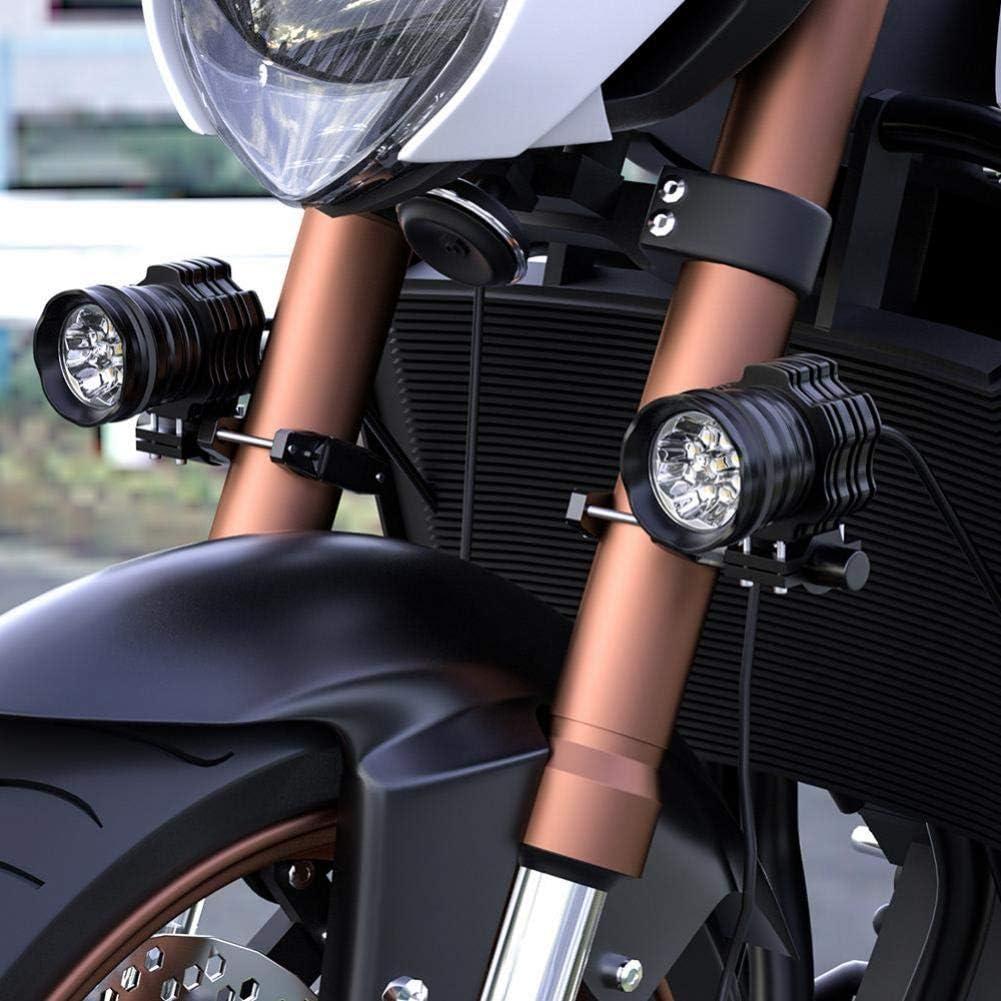 AMOYER Soporte de Montaje Universal para la Motocicleta Parachoques Modificado Faro Soporte Spotlight Marco Polo Extensi/ón Soporte de extensi/ón Soporte
