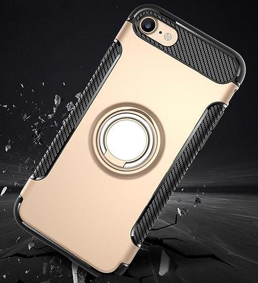 Case for Iphone 8/7 funda protectora anillo de rotación de 360 grados función atril cubierta protectora funda metalizada para iPhone 8/7 (ROSE GOLD, ...