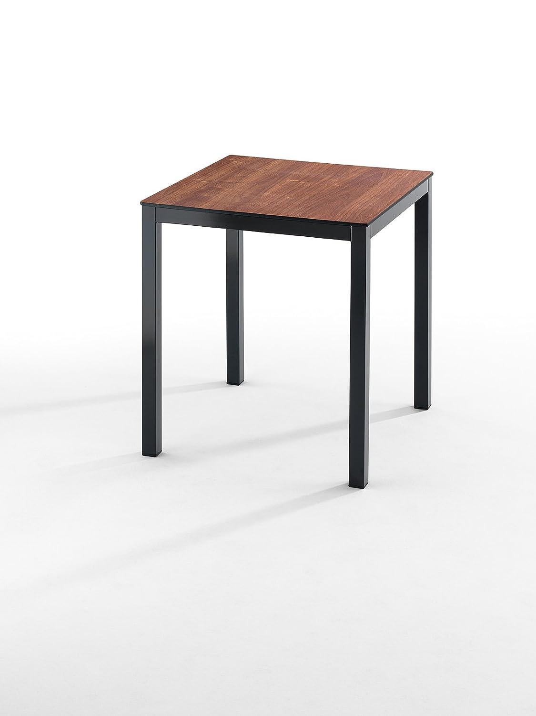Oihan Shop Tisch Esszimmer Comp. 70 x 70 Kirsche/schwarz: Amazon.de ...