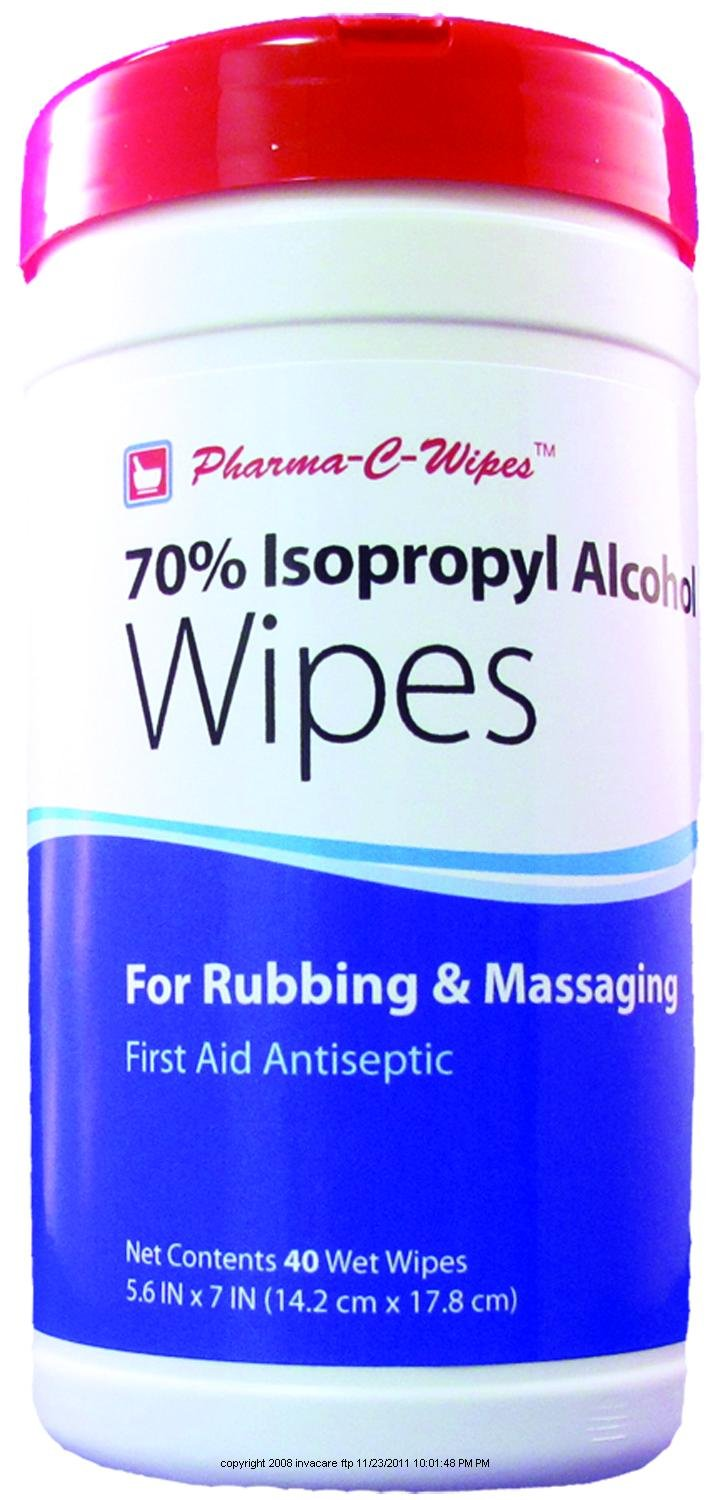 70% Isopropyl Alcohol Wipes, Alcohol Wipes Cannister 40Ct, (1 CASE, 6