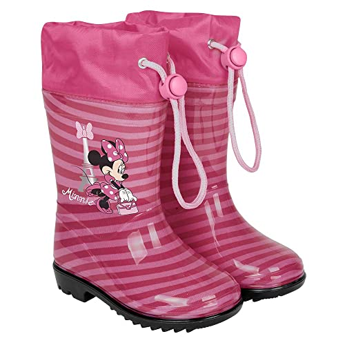 publier des informations sur acheter authentique le prix reste stable Perletti Minnie Mouse Bottines de Pluie Enfant - Disney Maison Mickey  Bottes Imperméables à Rayures Fille avec Semelle Anti Dérapante -  Chaussures ...