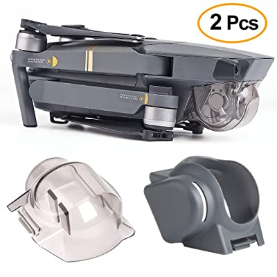 Kuuqa 2Pcs Gimbal Cover,Gimbal Housse Coque Lens Hood Sun Shade protection Gimbal avec Gimbal Guard Camera Fixed Protector pour Dji Mavic Pro (Dji Mavic non Inclus)