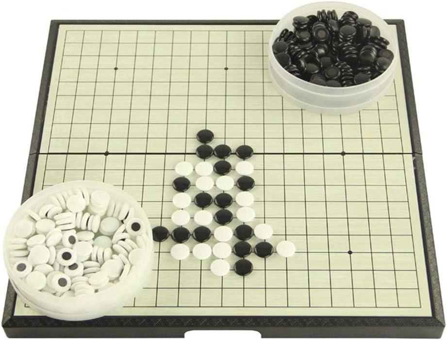 Sumferkyh-toy Colección de Juegos Juego de Juego magnético Go con Piedras plásticas magnéticas convexas Individuales y Tablero Go Diseño de Tabla Plegable portátil para niños y ADU: Amazon.es: Hogar