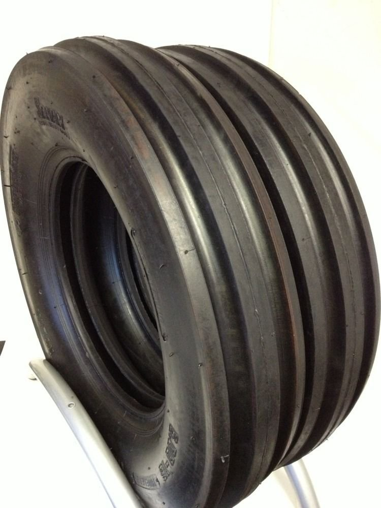 Two 6.00-16 Front Tractor Tires 3 Rib 10 Ply Rated Load E Tubeless