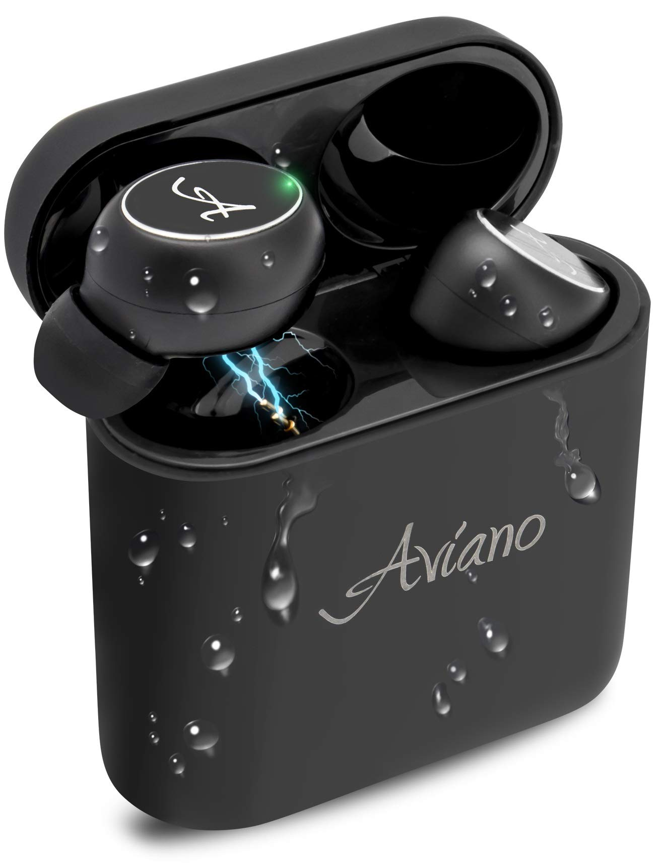Smart Bluetooth Earbuds for iPhone & Android - True Wireless Bluetooth 5.0 Headphones w/Noise Cancelling, 3D Stereo Sound, Mic & Portable Charging Case by Aviano