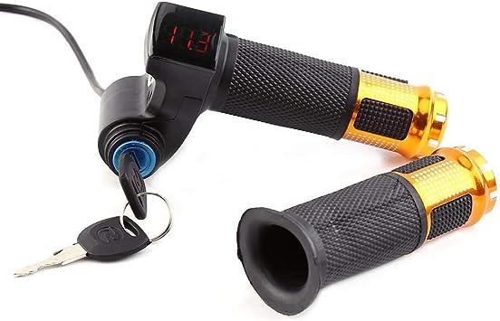 Apretón Acelerador Bicicleta Pantalla LCD Twist Acelerador Mangos ...