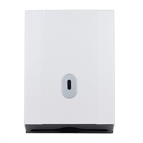 bc9e7e5cb7e White Wall Mounted Paper Hand Towel Dispenser - Large Capacity - Lockable   Amazon.co.uk  Kitchen   Home