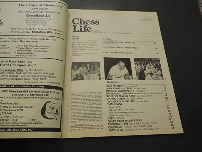 Chess Life May 1991 Amateur Teams Set New Records at Amazon's