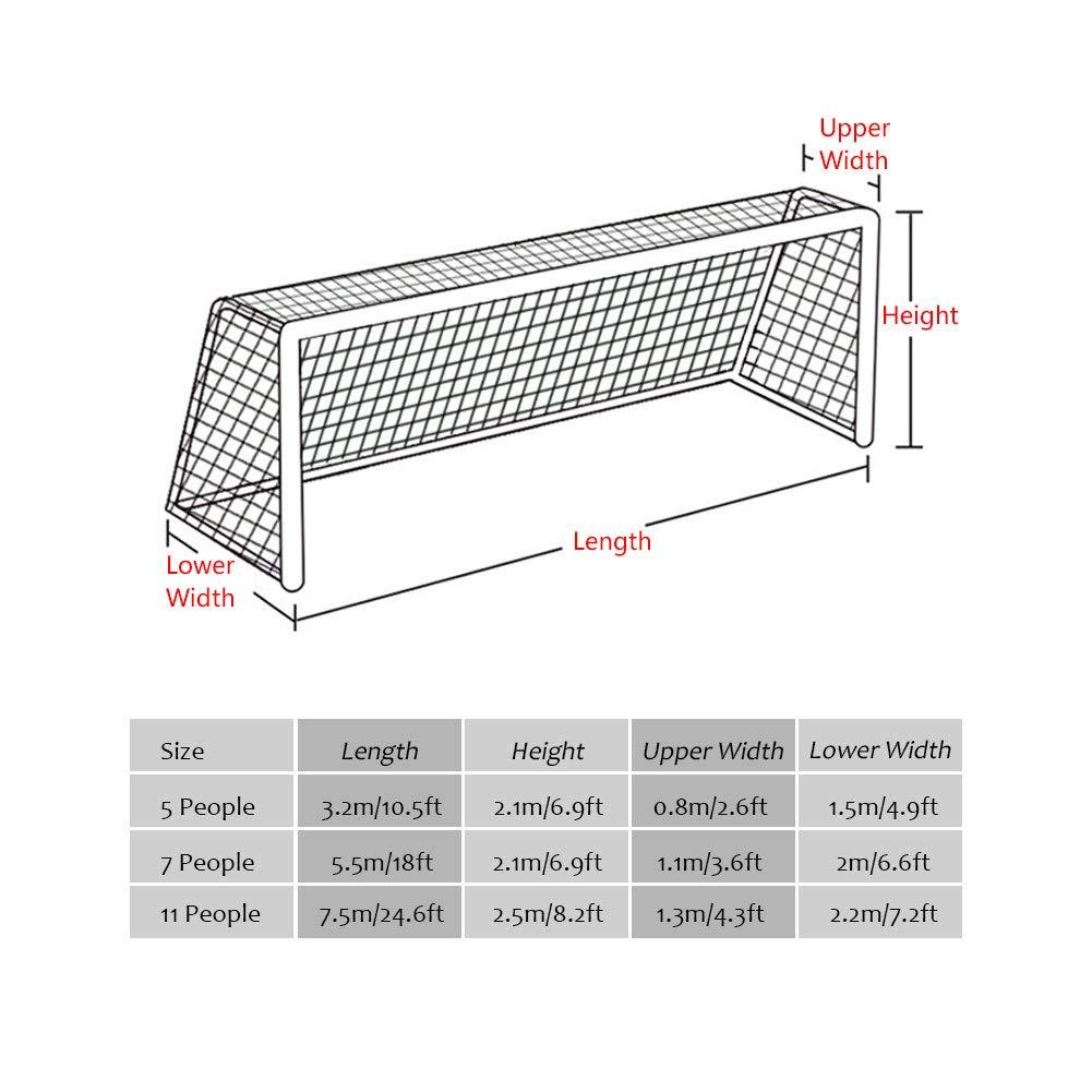 Alomejor Filet De But De Football 18 X 7ft 24 X 8ft pour Feild Taille Standard De Filet De Rechange De Football 10 X 7ft