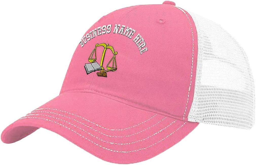Custom Trucker Hat Richardson Judicial Equipment Embroidery Business Name Cotton