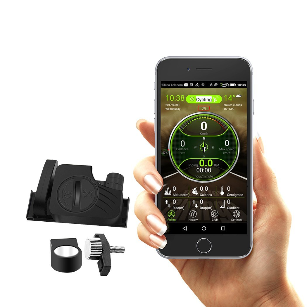 Kernowo Bluetooth Bike Computer RPM Speed & Cadence Sensor Wireless Bicycle Speedometer Cycling Odometer APP Control(IOS and Android)